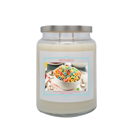 Fruit Rings 24oz Double Wick Candle