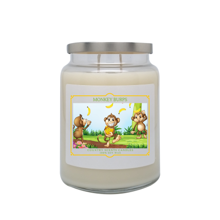 Monkey Burps 24oz Double Wick Candle