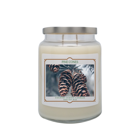 Pine Cones 24oz Double Wick Candle