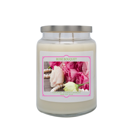 Rose Bouquet 24oz Double Wick Candle