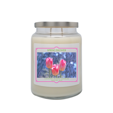 Spring Shower 24oz Double Wick Candle