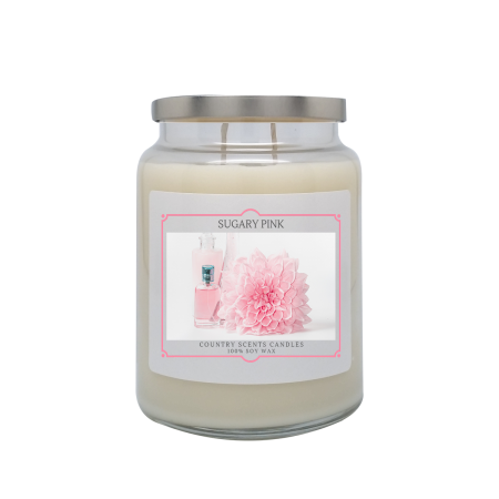 Sugary Pink 24oz Double Wick Candle
