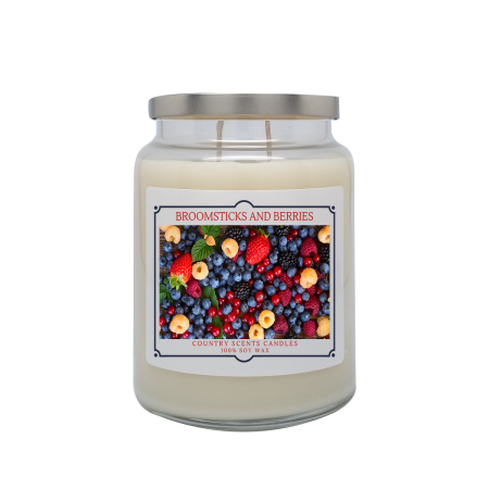 Broomsticks And Berries 24oz Double Wick Candle