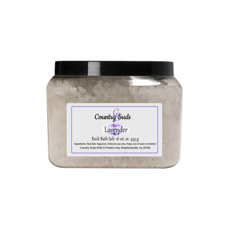 Lavender 16oz Rock Bath Salt